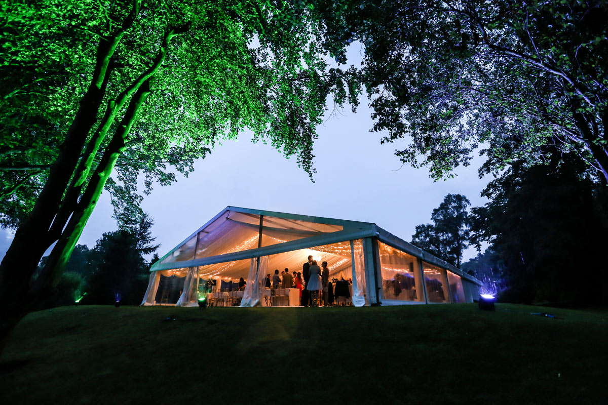 Best Intent Marquees - Marquee at Dusk